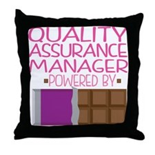 Quality Assurance Manager Throw Pillow