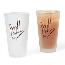 Tiedye I Love You Drinking Glass