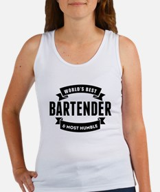 Worlds Best And Most Humble Bartender Tank Top