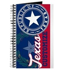 Personalized Texas Flag Seal Journal
