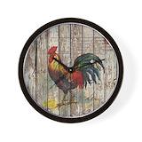 Chicken rustic Wall Clocks