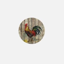 rustic farm country rooster Mini Button