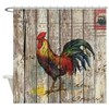 rustic farm country rooster Shower Curtain