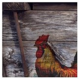 Roosters Wrapped Canvas Art