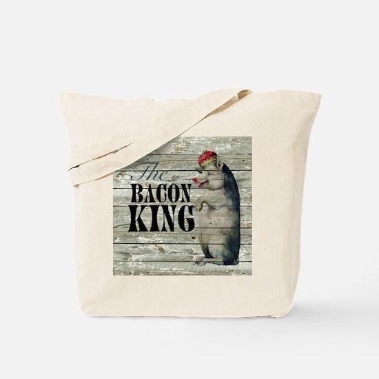 funny pig bacon king Tote Bag