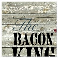 funny pig bacon king Canvas Art