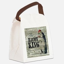 funny pig bacon king Canvas Lunch Bag