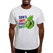 Dragon. Suns Out! Guns Out! T-Shirt