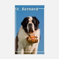 St Bernard-5 Rectangle Decal