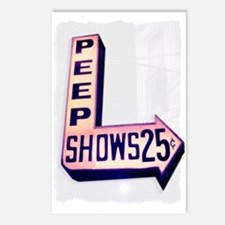 Peep Shows 25cents Photo Postcards (Package of 8)