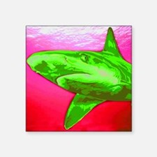 "Painted Shark Square Sticker 3"" x 3"""