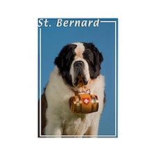 St Bernard-5 Rectangle Magnet (100 pack)
