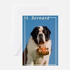 St Bernard-5 Greeting Card
