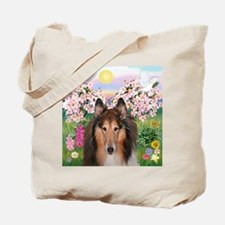 Blossoms - Collie (H) Tote Bag