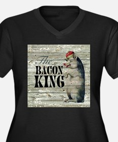 funny pig bacon king Plus Size T-Shirt