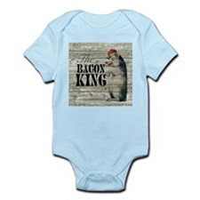 funny pig bacon king Body Suit