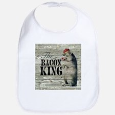 funny pig bacon king Bib