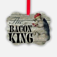funny pig bacon king Ornament
