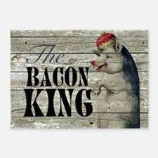 funny pig bacon king 5'x7'Area Rug