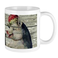 funny pig bacon king Mugs