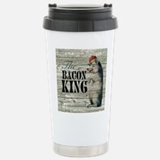 funny pig bacon king Stainless Steel Travel Mug