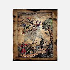 Medieval Spirit Minstrels Throw Blanket