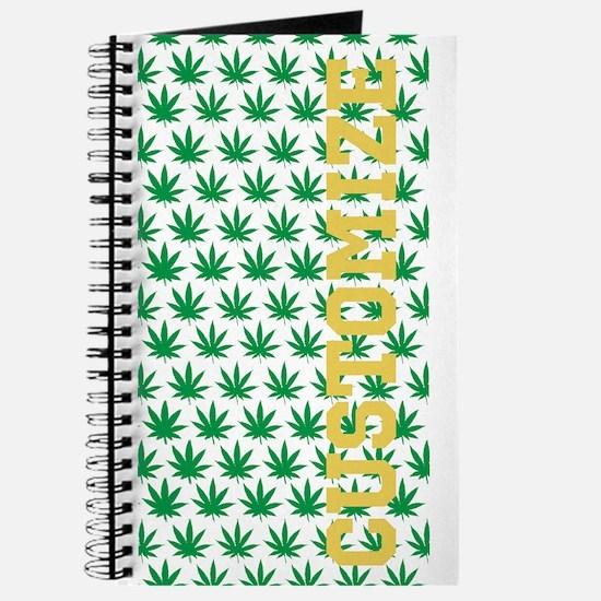 Customized Pot Leaf Pattern Journal