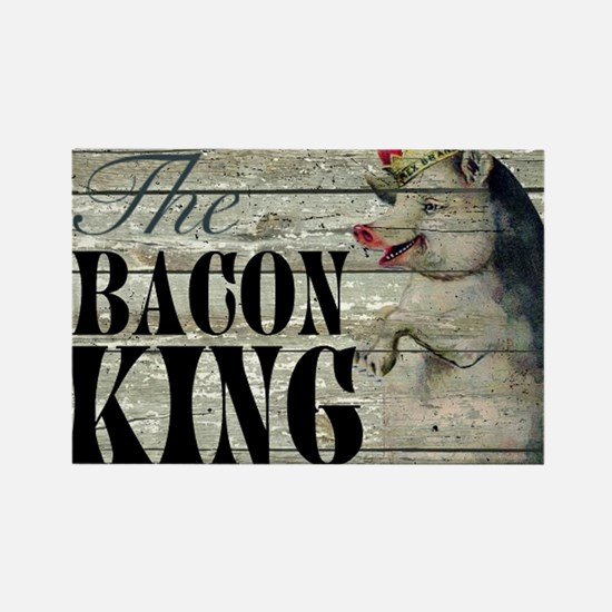 funny pig bacon king Magnets