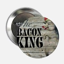 """funny pig bacon king 2.25"""" Button (10 pack)"""