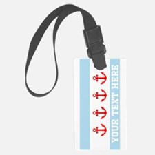 Personalized Nautical Chicago Flag Luggage Tag
