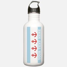 Personalized Nautical Chicago Flag Water Bottle