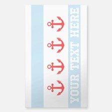 Personalized Nautical Chicago Flag Decal