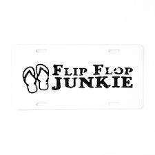 Flip Flop Junkie Aluminum License Plate