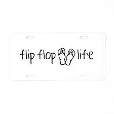 Flip Flop Life Aluminum License Plate