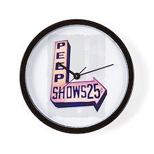 Peep Shows 25 Cents Photo Wall Clock