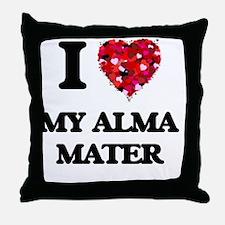 I Love My Alma Mater Throw Pillow