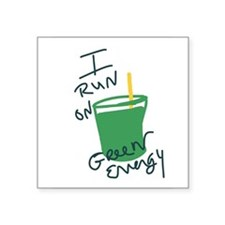 I run on Green Energy Sticker