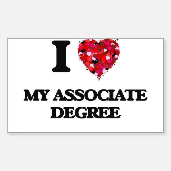 I Love My Associate Degree Decal