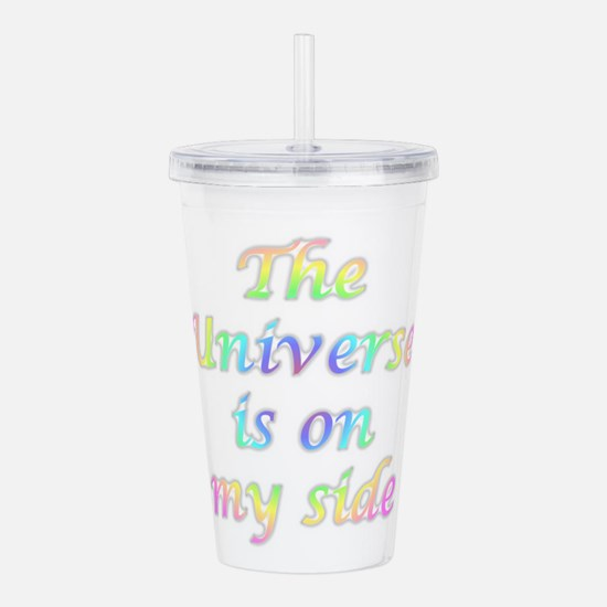 The Universe Is On My Acrylic Double-Wall Tumbler