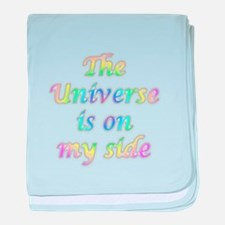 the universe is on my side baby blanket