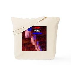 AFTM Holiday God Bless Americ Tote Bag