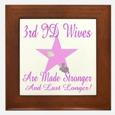 3rd ID wives Framed Tile