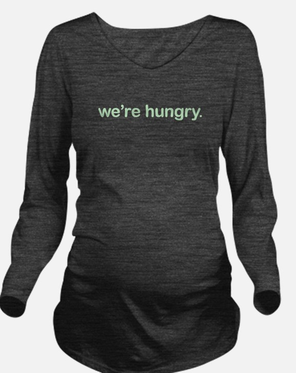Cute Baby is hungry Long Sleeve Maternity T-Shirt