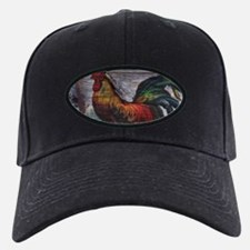 rustic farm country rooster Baseball Hat