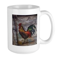 rustic farm country rooster Mugs