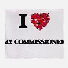 I love My Commissioner Throw Blanket