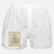 Vintage Map of England (1837) Boxer Shorts