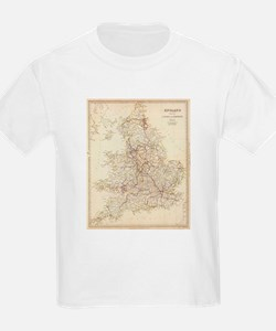 Vintage Map of England (1837) T-Shirt
