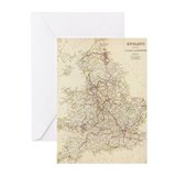 Map Greeting Cards (20 Pack)