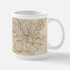 Vintage Map of England (1837) Mugs